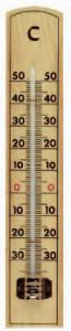 Wall-mounting room thermometer