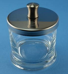 Jars with base, knobbed lid