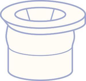 PE plug, N 12, Polyethylene, transparent, closed top, no liner