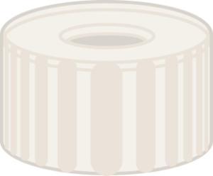Screw closure, N 9, PP, transparent, center hole, no liner