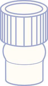 PE plug, N 8, Polyethylene, transparent, closed top, no liner