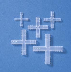 Tubing connectors, X-shaped, PP