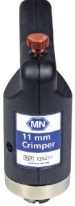 Crimping tool for 11 mm aluminum caps, manual, ergonomic