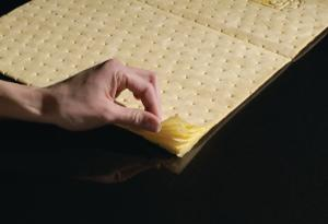 PIG® High-Visibility Yellow Mat Pads and Rolls
