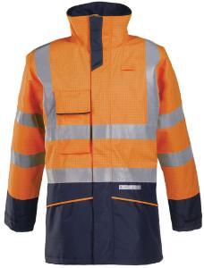 Flame-retardant rain jacket, high visibility, Hedland 7223