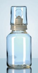 Láhve na kyseliny, se zátkou a vyměnitelným skleněným uzávěrem, DURAN®